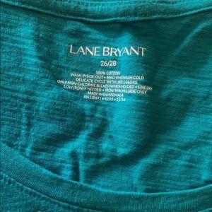 Lane Bryant Tops - Lane Bryant green/blue golden sunglasses T-shirt